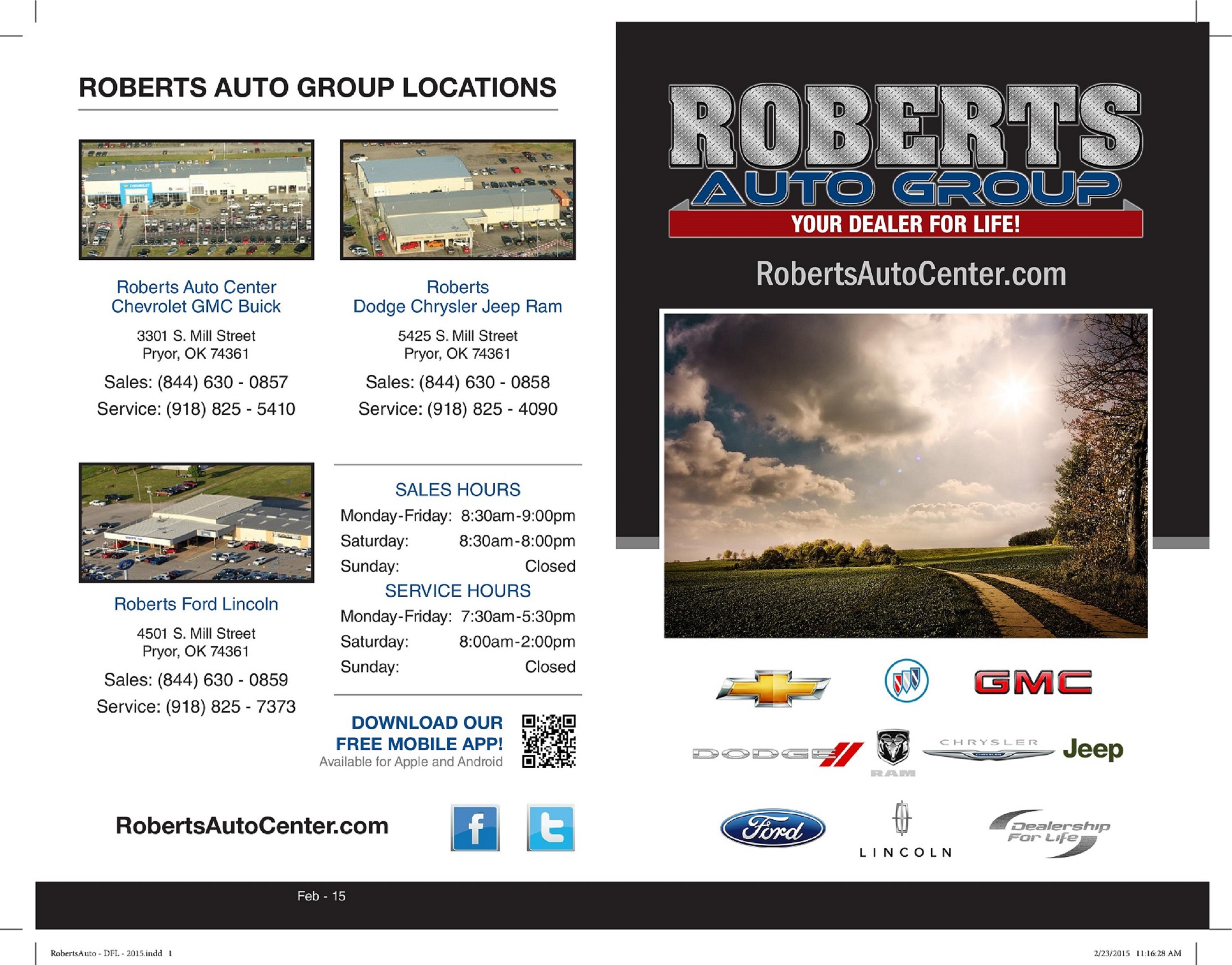 rewards roberts auto group