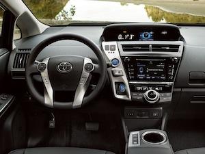 2017 Toyota Prius v interior