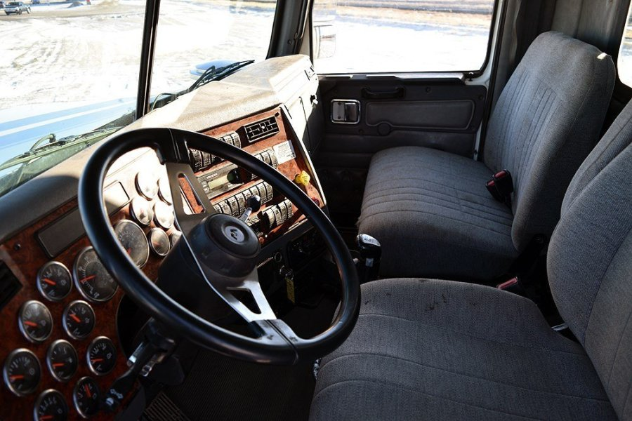 A Spacious Cab of a Used Grain Truck