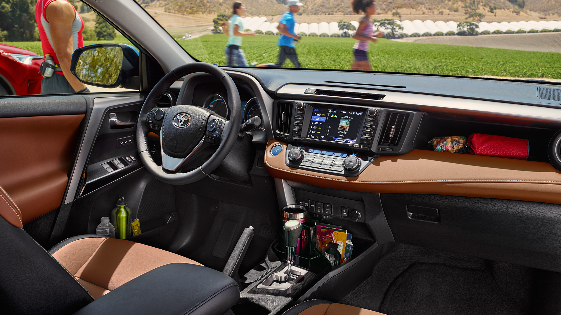 Interior of the 2017 RAV4 Hybrid