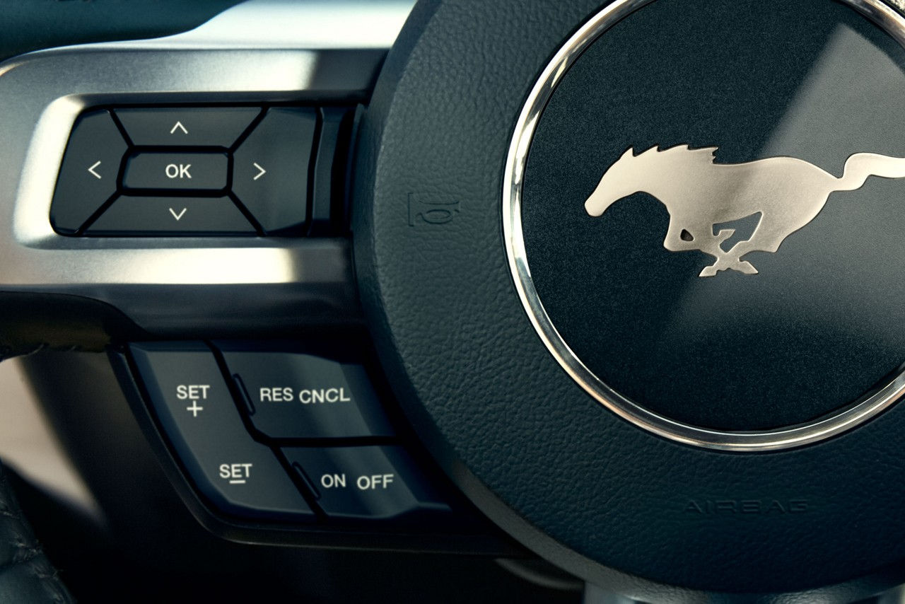 Leather-Wrapped Steering Wheel in the 2017 Mustang ROUSH RS