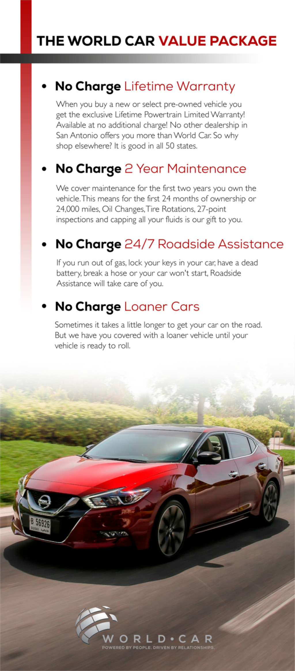 World car nissan value package