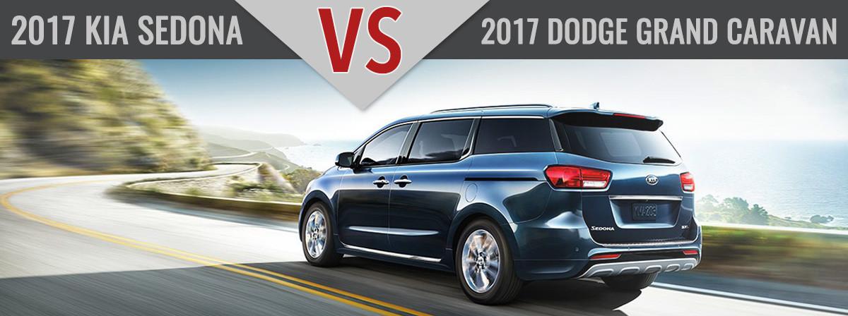 2017 Kia Sedona vs. 2017 Dodge Grand Carvan Charlotte NC