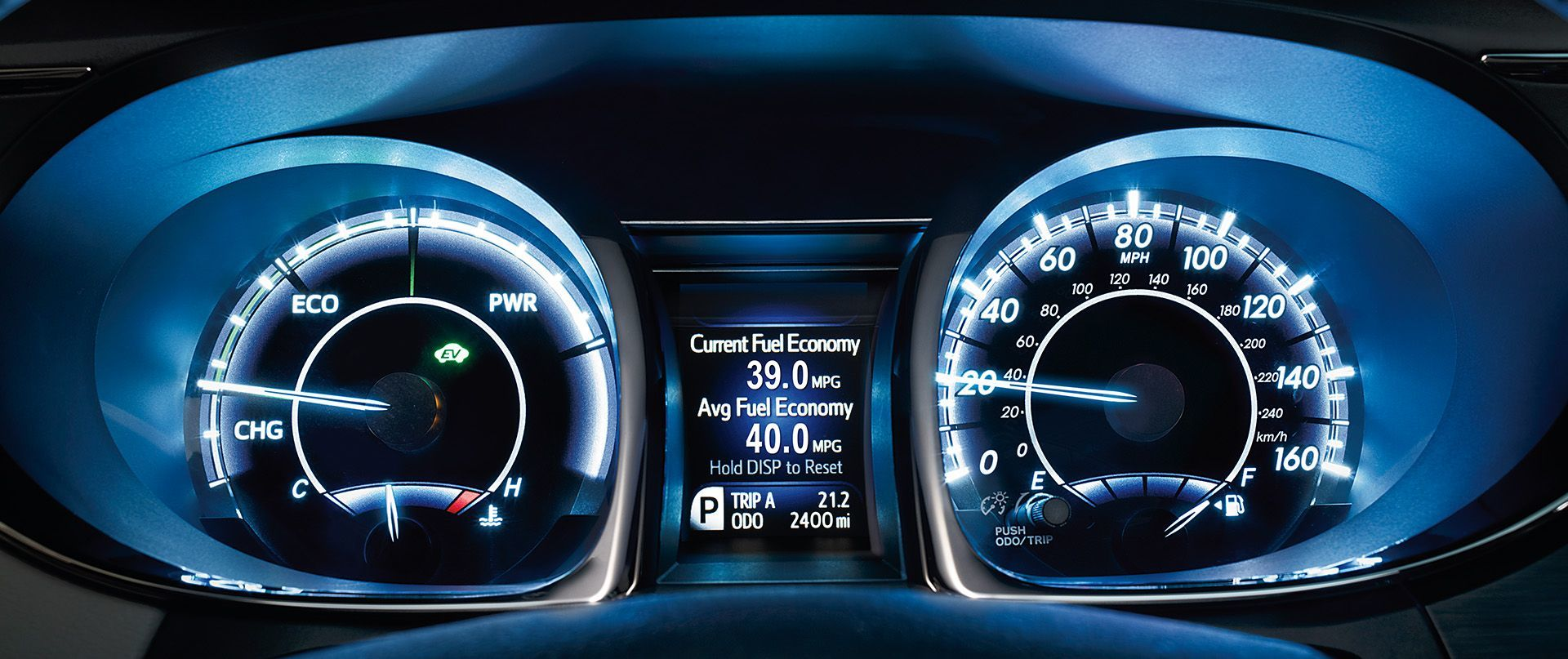 TFT Multi-Information Display in the 2017 Avalon Hybrid